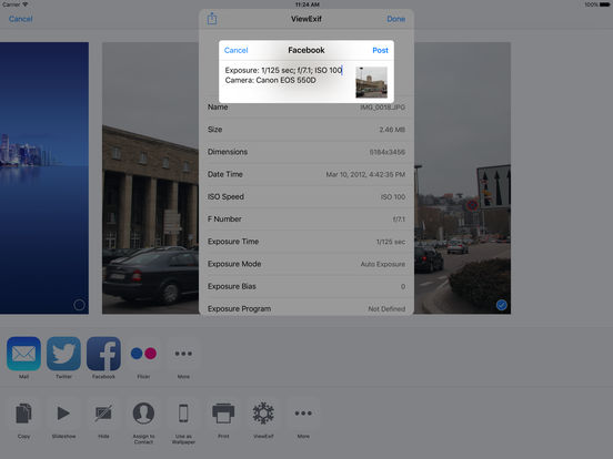 ViewExif Screenshots