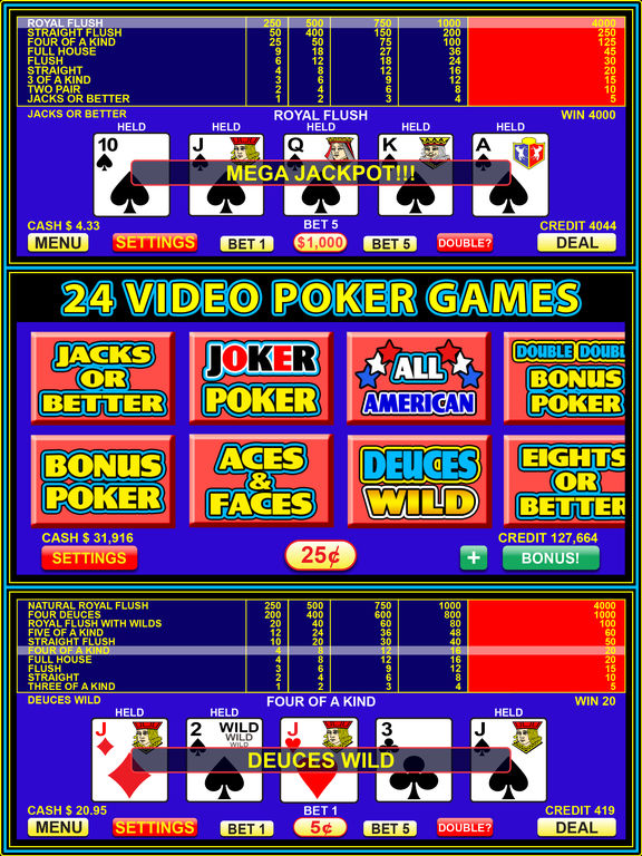 Free video poker sites