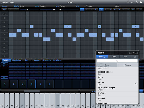 StepPolyArp - Midi Step Polyphonic Arpeggiator iPad Screenshot 2