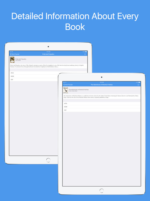 Book Finder Pro - Search and download eBooks Screenshots