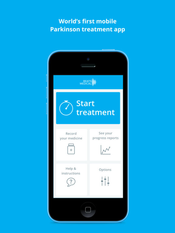 Beats Medical Parkinsons Treatment App screenshot