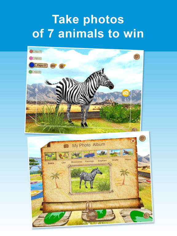 We Discover Africa: Safari Quest - family board game for 2, 3, 4 players with questions and answers about African animals