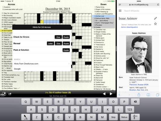 Crosswords iPad Screenshot 3