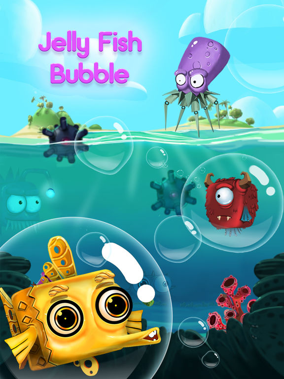 Jelly Fish Bubble на iPad