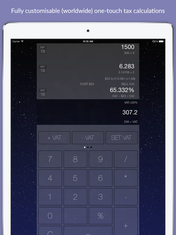 Wedge Business Calculator with Currency Converter Screenshots