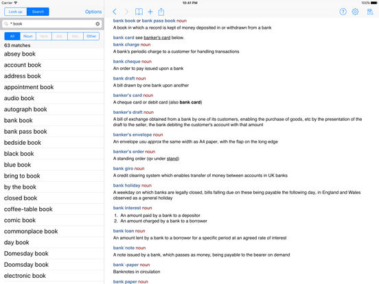 Chambers Dictionary iPad Screenshot 1