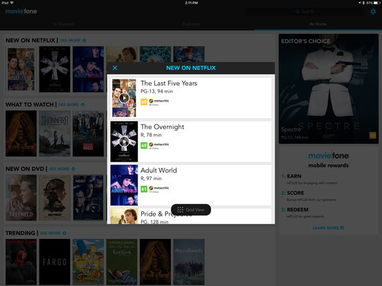 Moviefone - Movies, Theaters, Showtimes and News from Hollywood iPad Screenshot 5