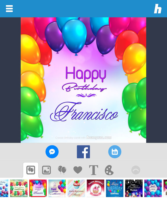 Happy Birthday Card Maker on the App Store – Ipad Birthday Card