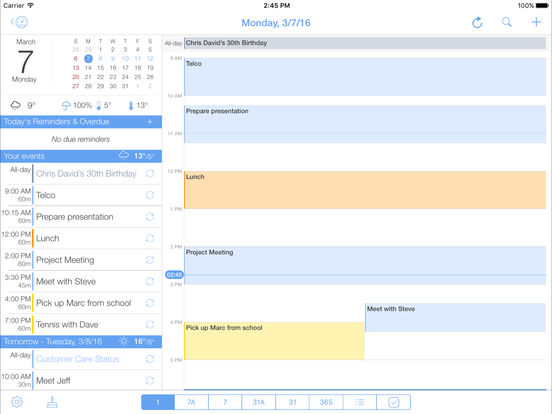 miCal - the missing calendar with reminders Screenshots