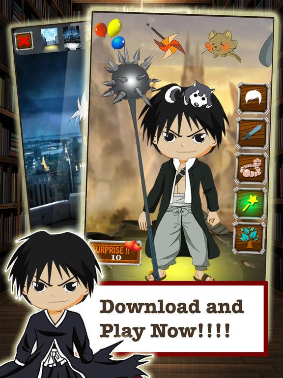 FMA Anime DressUp Games - Manga Maker For Kids FullMetal Alchemist Editionscreeshot 5