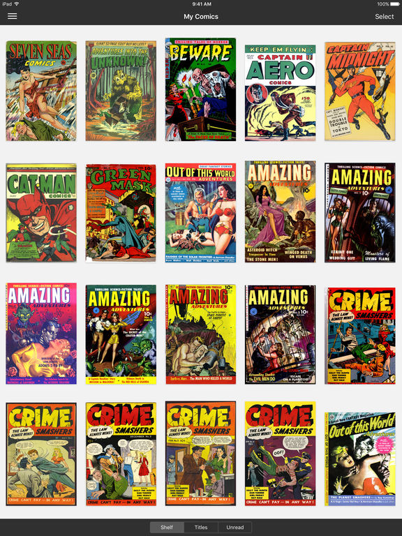 iComics - The Comic Reader for iPad and iPhone Screenshots