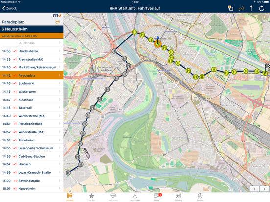 RNV Start.Info iPad Screenshot 3