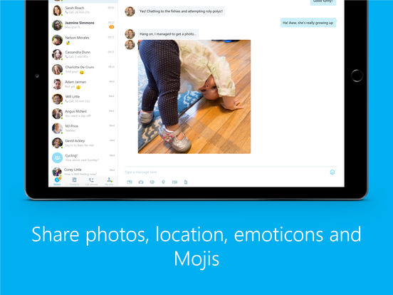 Skype for iPad Screenshots