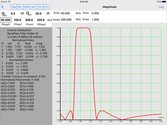 Electrical Filters Pro iPad Screenshot 3