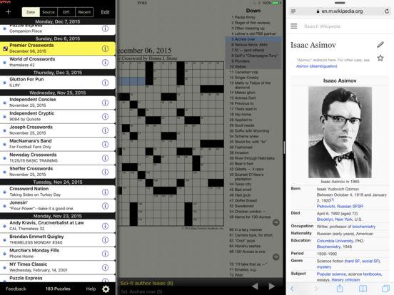 Crosswords iPad Screenshot 1