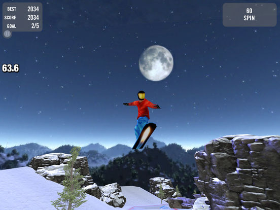 Crazy Snowboard iPad Screenshot 2
