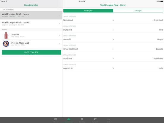 hockey.nl Standenmotor iPad Screenshot 3