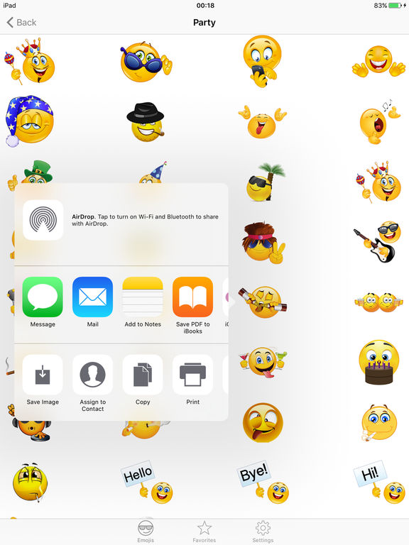 Adult emojis emoticon icons free smiley faces keyboard funny sticker s for texting screenshot