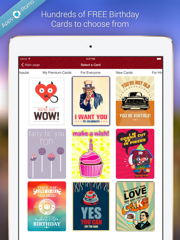 birthday cards for friends  family on the app store, Birthday card