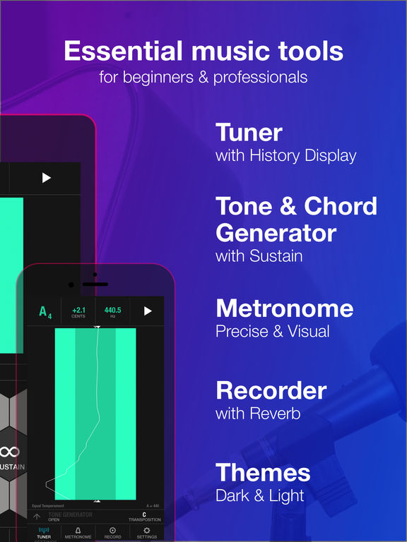 Tunable: Tuner, Metronome, and Recorder Screenshots