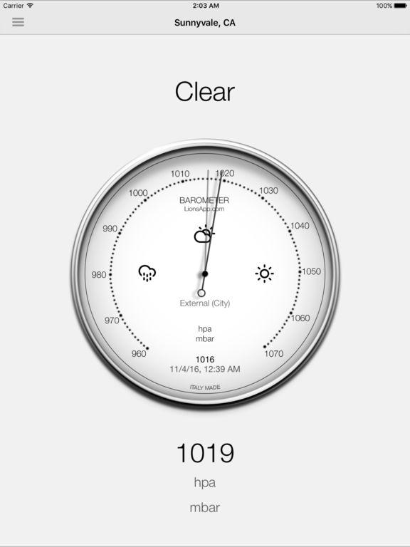 Barometer - Atmospheric pressure Screenshots