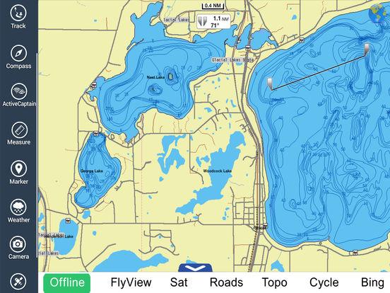 Marine: Michigan & Superior Lakes HD iPad Screenshot 3