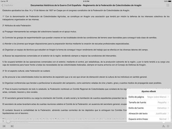 Documentos históricos de la Guerra Civil Española iPad Screenshot 1