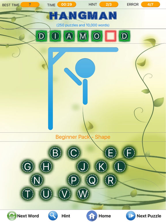 Screenshots of Word Search -Hidden Crossword Finder, Hangman tagged Spider Solitaire for iPad