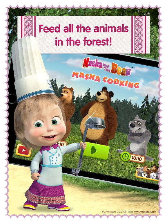 Masha and the Bear diner dash and kitchen gamesscreeshot 3