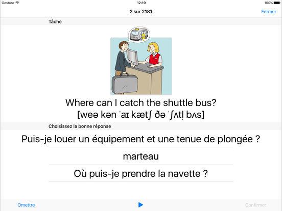 Coach linguistique iPad Screenshot 2