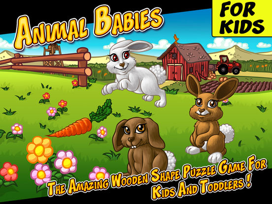 животные дети - удивительные деревянные головоломки формы для детей и малышей (Animal Babies - The Amazing Wooden Shape Puzzle Game For Kids And Toddlers)