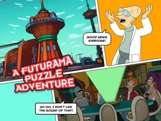 Screenshots of Futurama: Game of Drones for iPad