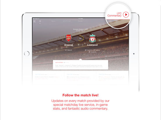 Liverpool FC Match & News Centre iPad Screenshot 3