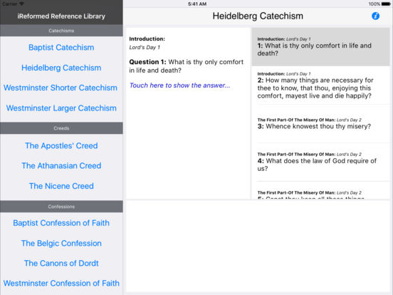 iReformed Reference Library for iPad iPad Screenshot 1