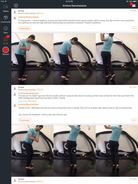 Hudl Technique: Slow Motion Video Analysis Screenshots