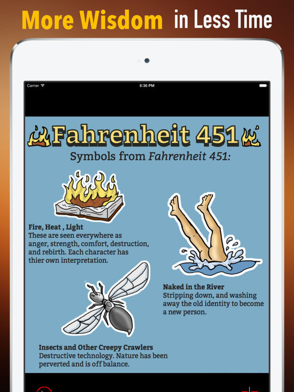 fahrenheit 451 symbolism river Images and symbols of fahrenheit 451 imagine a future in which all books are banned and censored in an attempt to keep the human race from thinking for themselves.