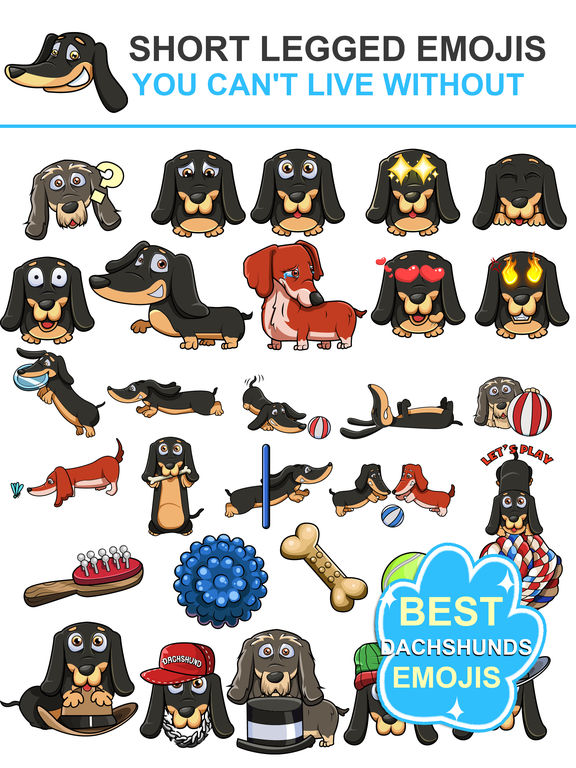 DoxMoji - Dachshunds Emoji Stickers screenshot 5