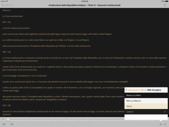 Costituzione della Repubblica Italiana iPad Screenshot 1