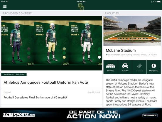 Baylor Bears iPad Screenshot 4