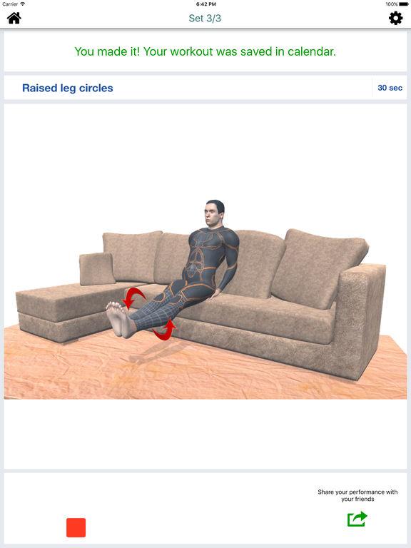 App Shopper Home Sofa Workout Challenge Free Lose