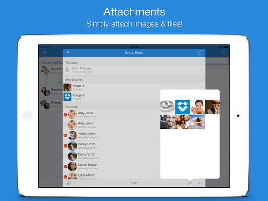 Screenshot #3 for Mail 2 Group - Quickly Email Your Contacts