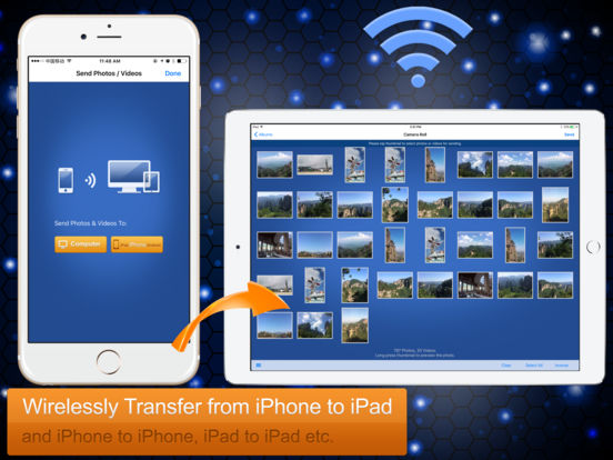 Wireless Transfer App:Sync backup photo and video Screenshots