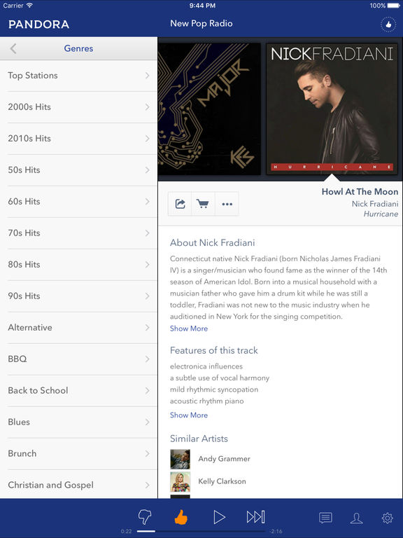 Pandora Radio screenshot