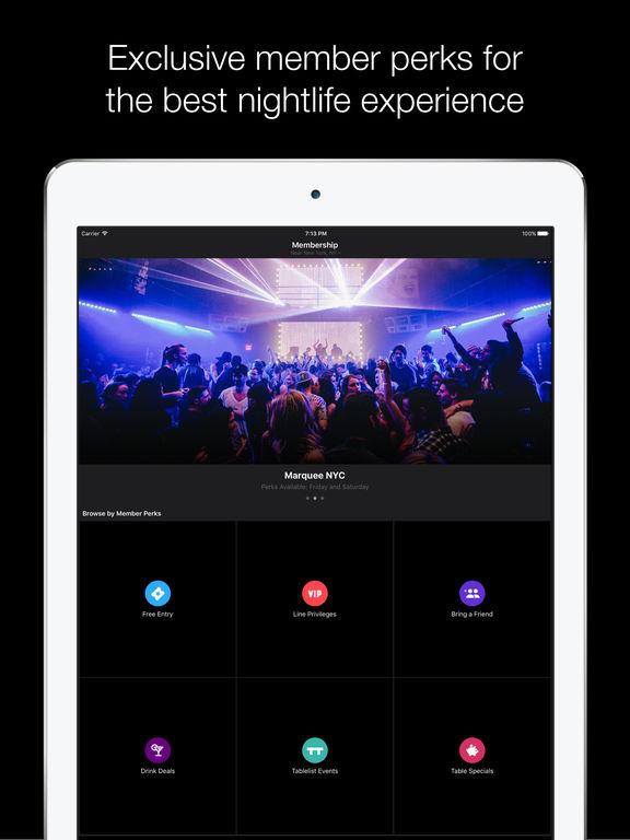 Tablelist — A Better Night Out screenshot