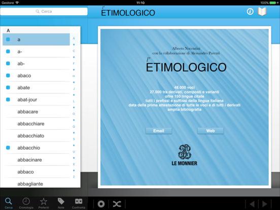 l'Etimologico iPad Screenshot 1