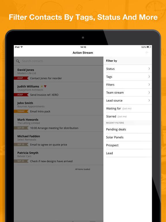 OnePageCRM - Simple Sales CRM screenshot