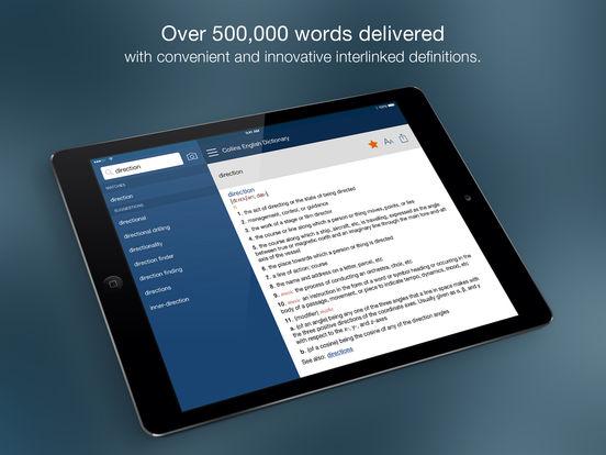 Collins English Dictionary Unabridged iPad Screenshot 1