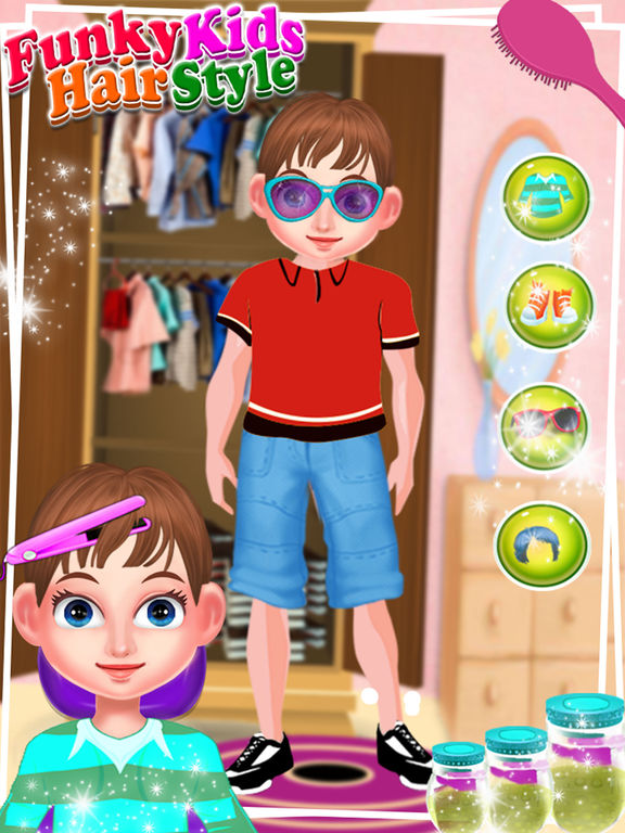 App Shopper Funky Kids Hair Style Salon Little Boy Fashion Games