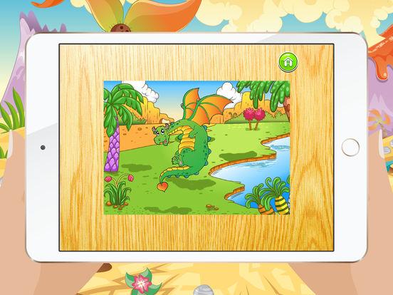 Мультфильм Дракон Пазлы для детей – Детский сад Обучение Игры Бесплатно Скриншоты10