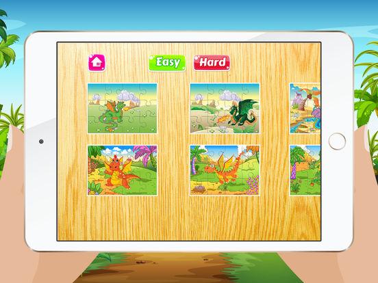 Мультфильм Дракон Пазлы для детей - Детский сад Обучение Игры Бесплатно Скриншоты9